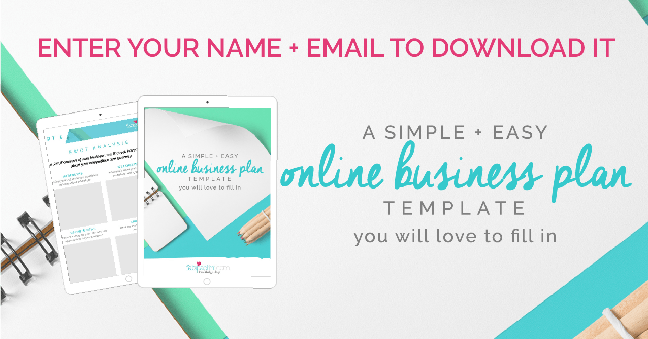 Online business plan template branding fabi paolini 03g accmission Choice Image