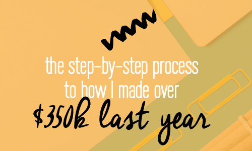 The step-by-step process to how I made over $350,000 last year with my online business. Includes a checklist with 12 steps to build your own online success as a brand. Fabi Paolini