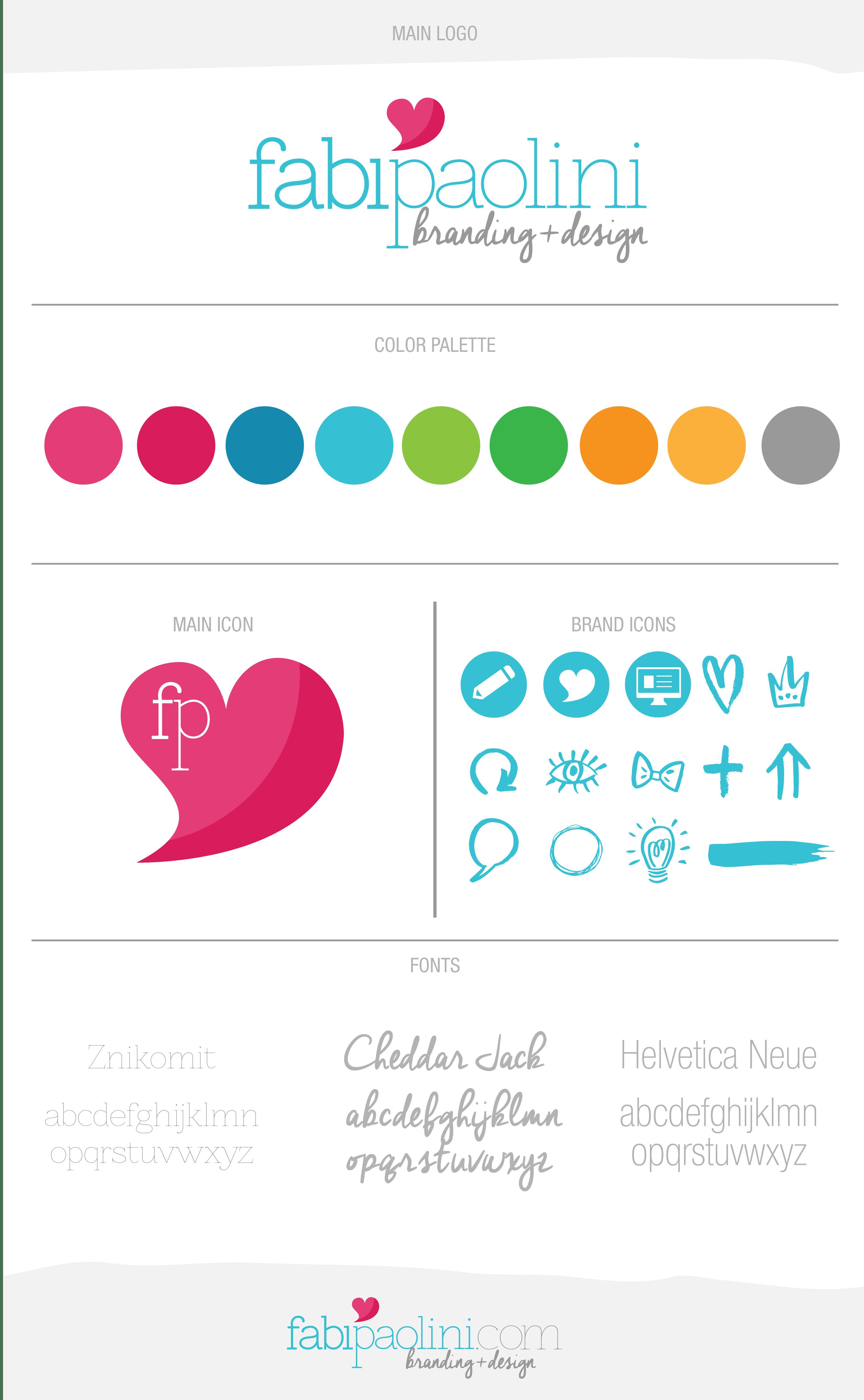 Fabi Paolini Branding + Design Logo Brand Board
