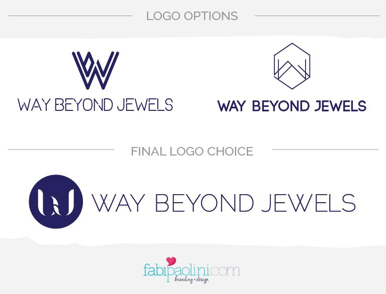 Final Logo Way Beyond Jewels Branding + Design Fabi Paolini - How to design a logo