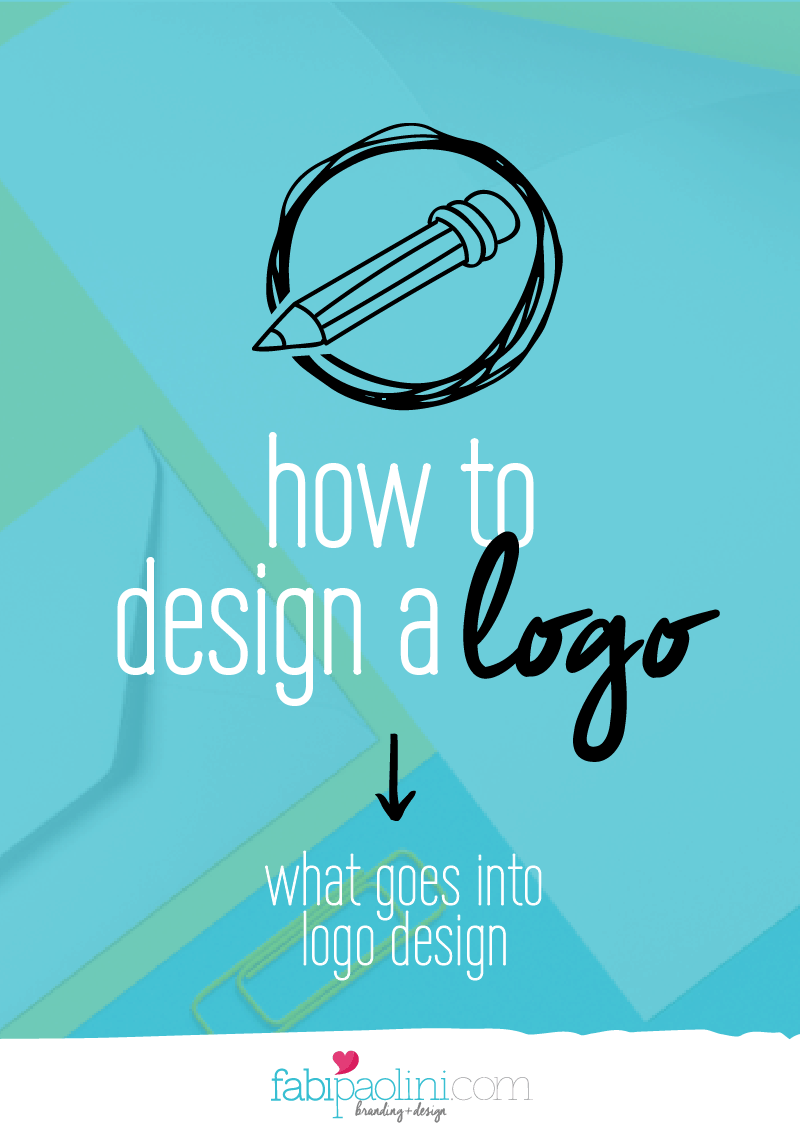 How to Design a logo. What goes int o logo design. Finding a Brand's foundations, Getting Inspired, Designing, cohesive and variety. Fabi Paolini Branding + Design
