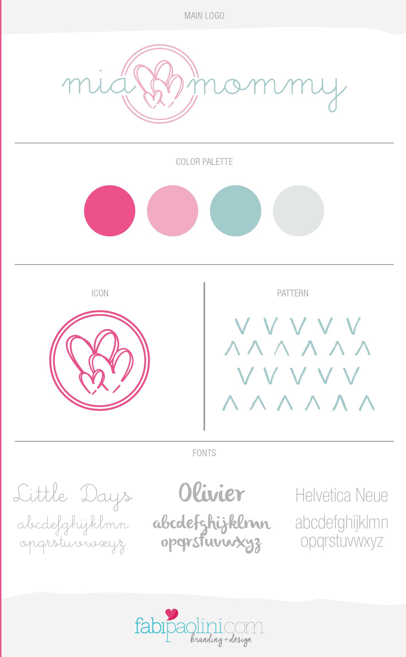 Mia Mommy Branding Design Logo Blog Fabi Paolini