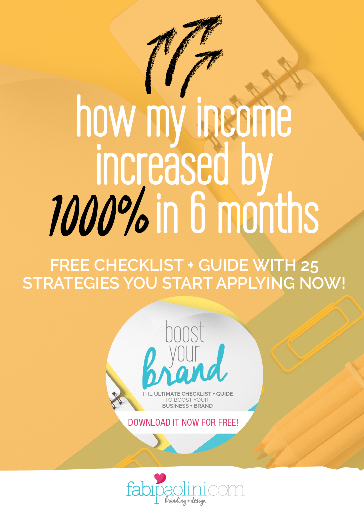 Boost Your Brand. Ultimate checklist and guide for entrepreneurs to build their brands + business through branding, design, social media, sharing, content creation, sales funnels. Tips, ideas, advice on Brand building