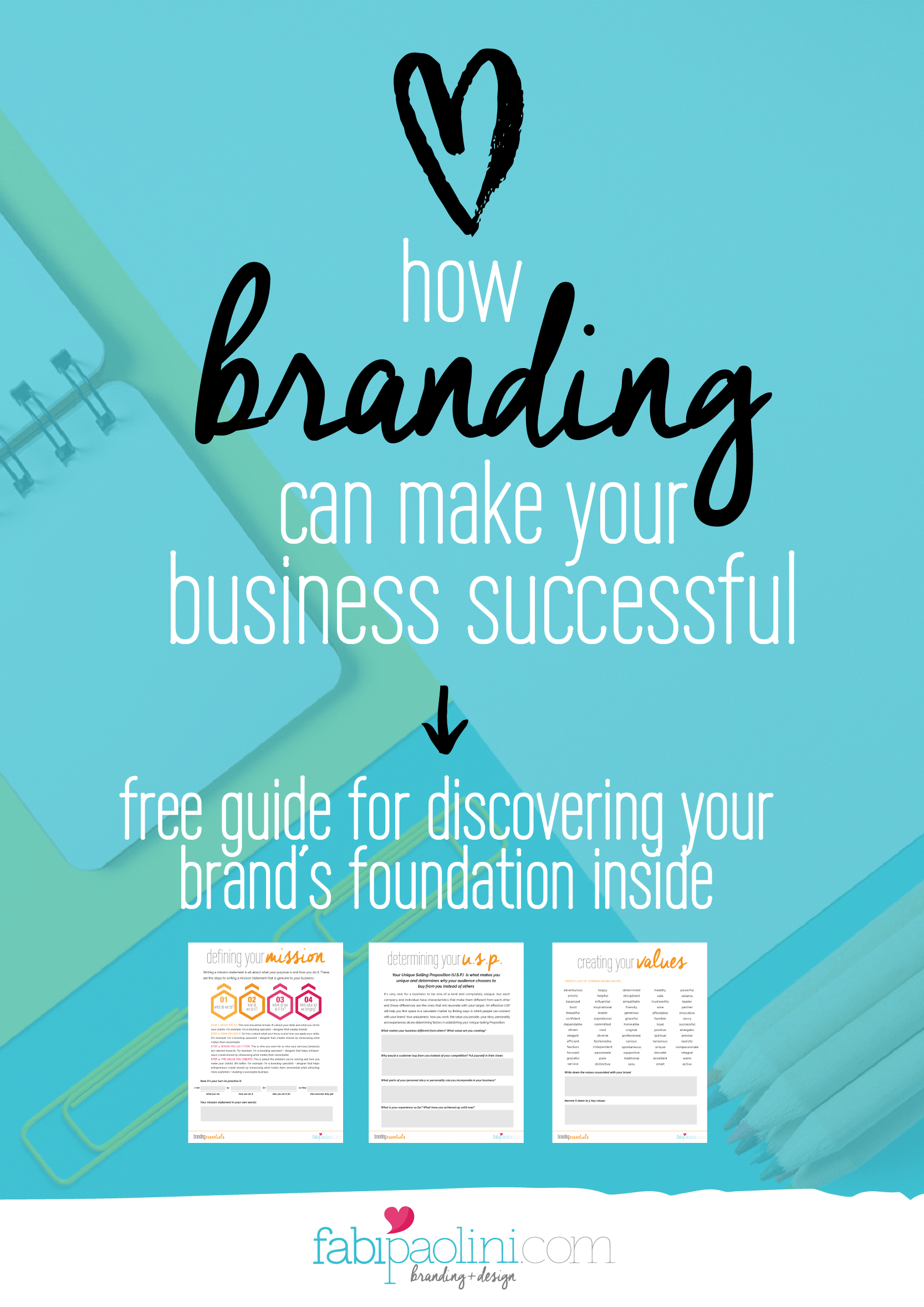 How branding can make your business successful. Free guide for discovering your brand's foundation inside. Click to download it now!