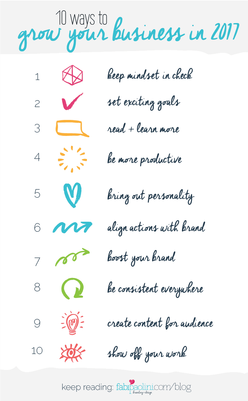Check out these 10 things you can do to grow your business in the new year. These are great tips and marketing strategies and ideas that you can implement for your business!