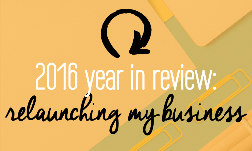 2016 Year in review: surprising lessons you can learn from my mistakes and successes in relaunching my business. Tons of incredible free content inside!