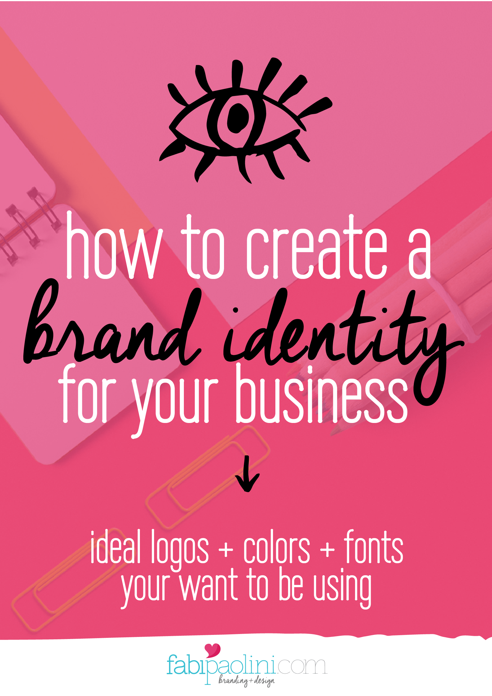 This guide on how to brand your business will really help with tips ideas and advice for creating a brand identity and choosing logo, fonts and colors for your business. Read it to download the free 15 page guide inside!