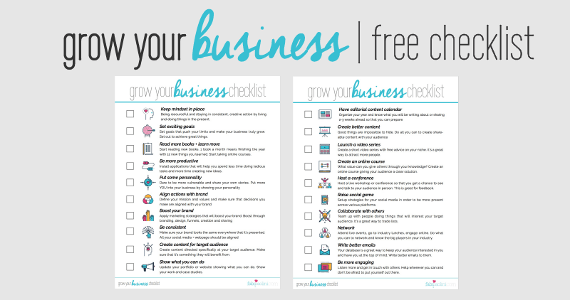 Grow your business free checklist