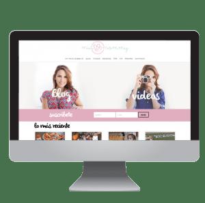 MiaMommy Mia Mommy theBlog blog Branding + Logo + Web design | Fabi Paolini