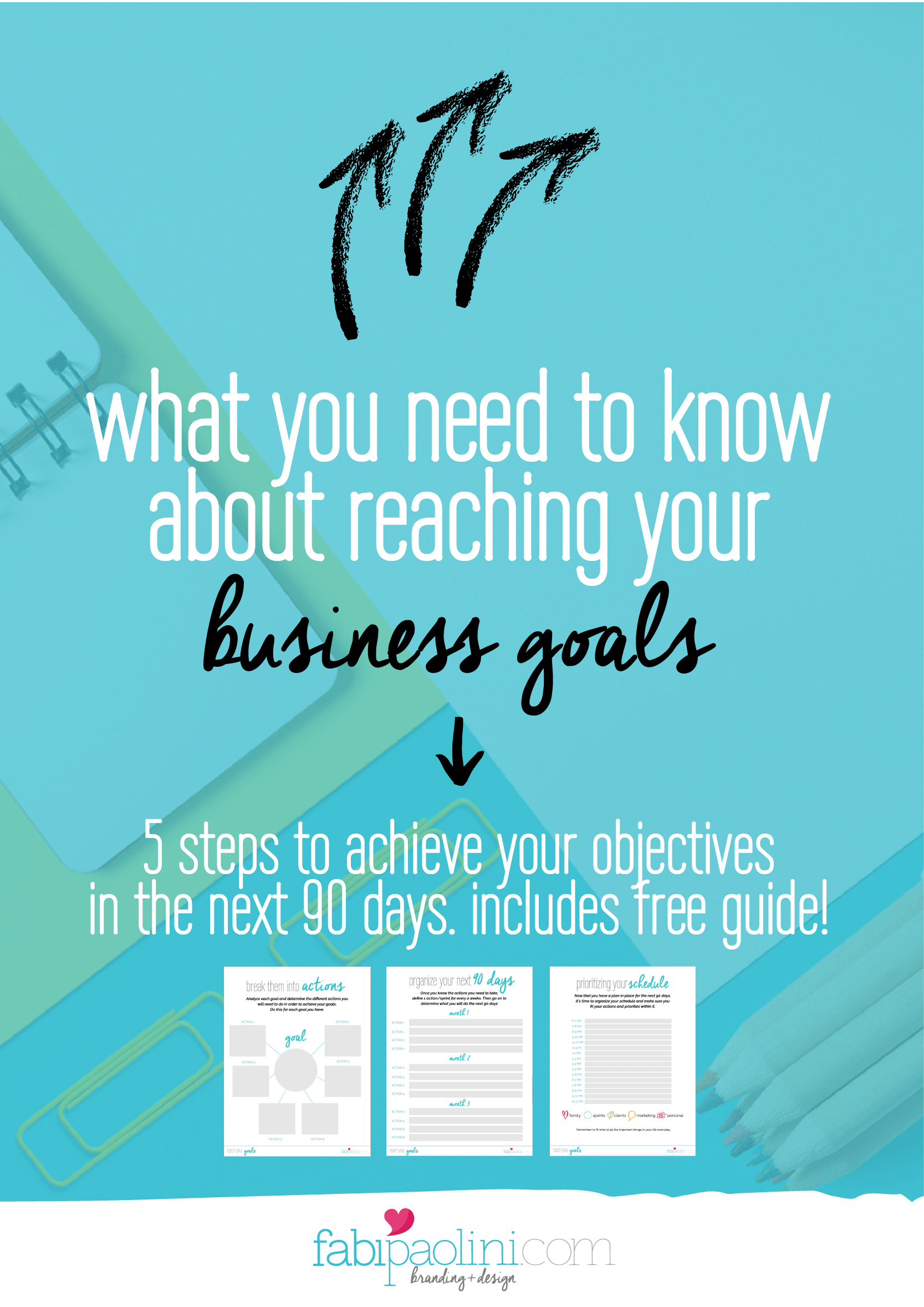 What you need to know about reaching your business goals. A super simple step by step guide to making it happen! It includes a free guide to download inside. Check it out!