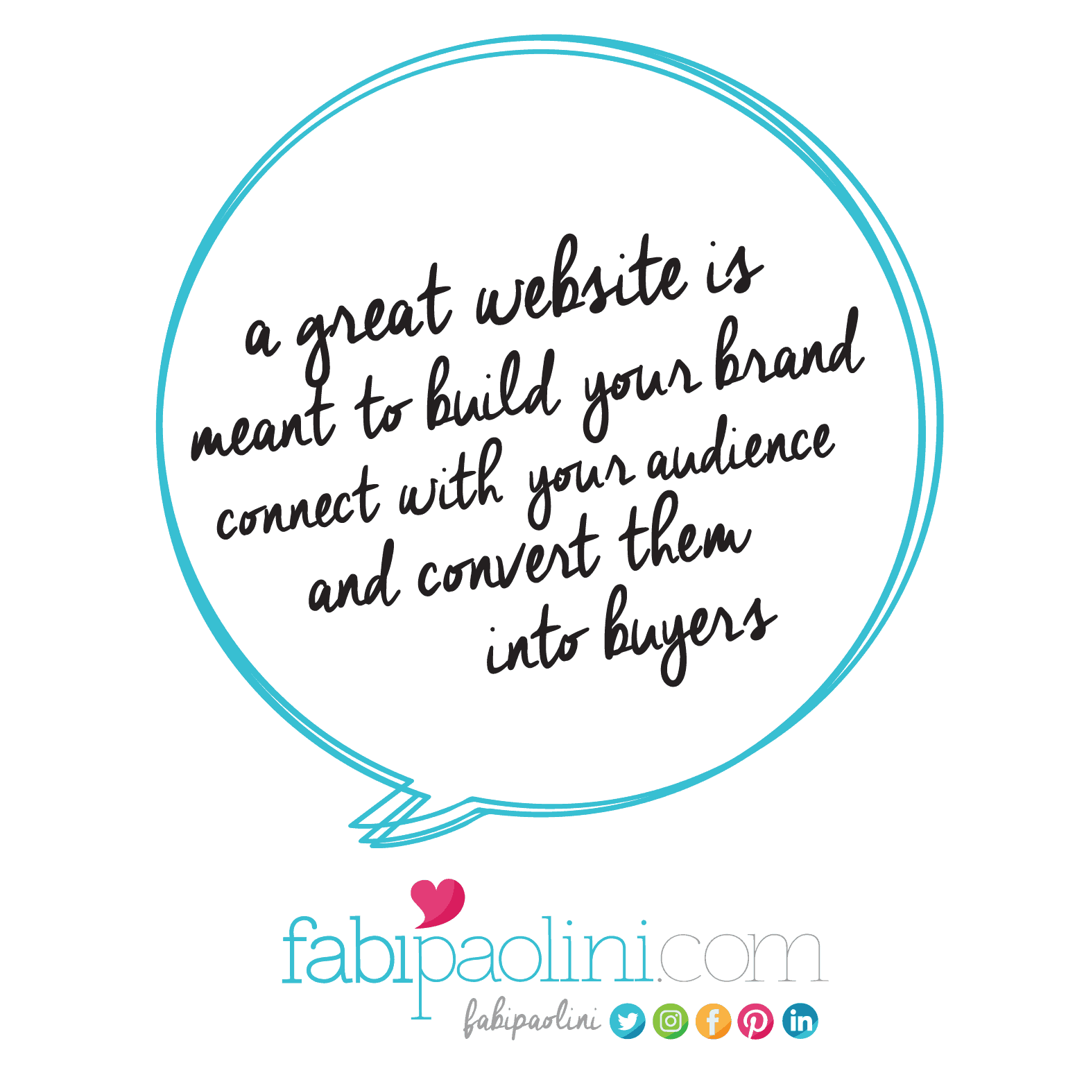 A great website is meant to build your brand, connect with your audience and convert them into buyers | Great website | Fabi Paolini Branding + Web design