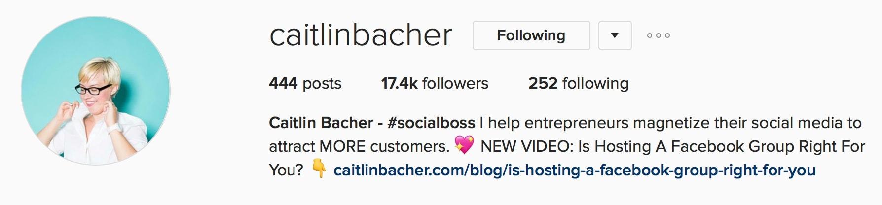 Caitlin Bacher Social Media Strategy