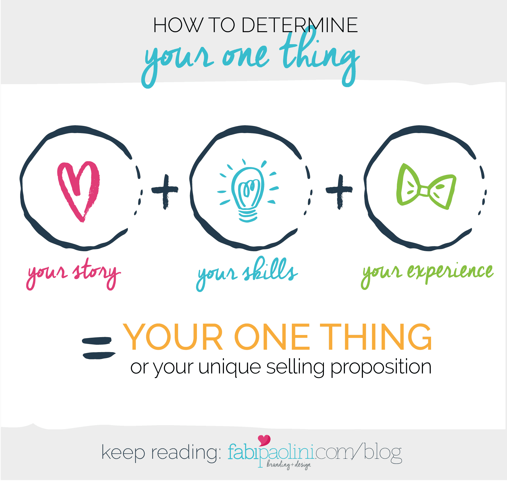 Your One thing. Discovering your Unique Selling Proposition. Differentiating your brand. Entrepreneur. Stand out.