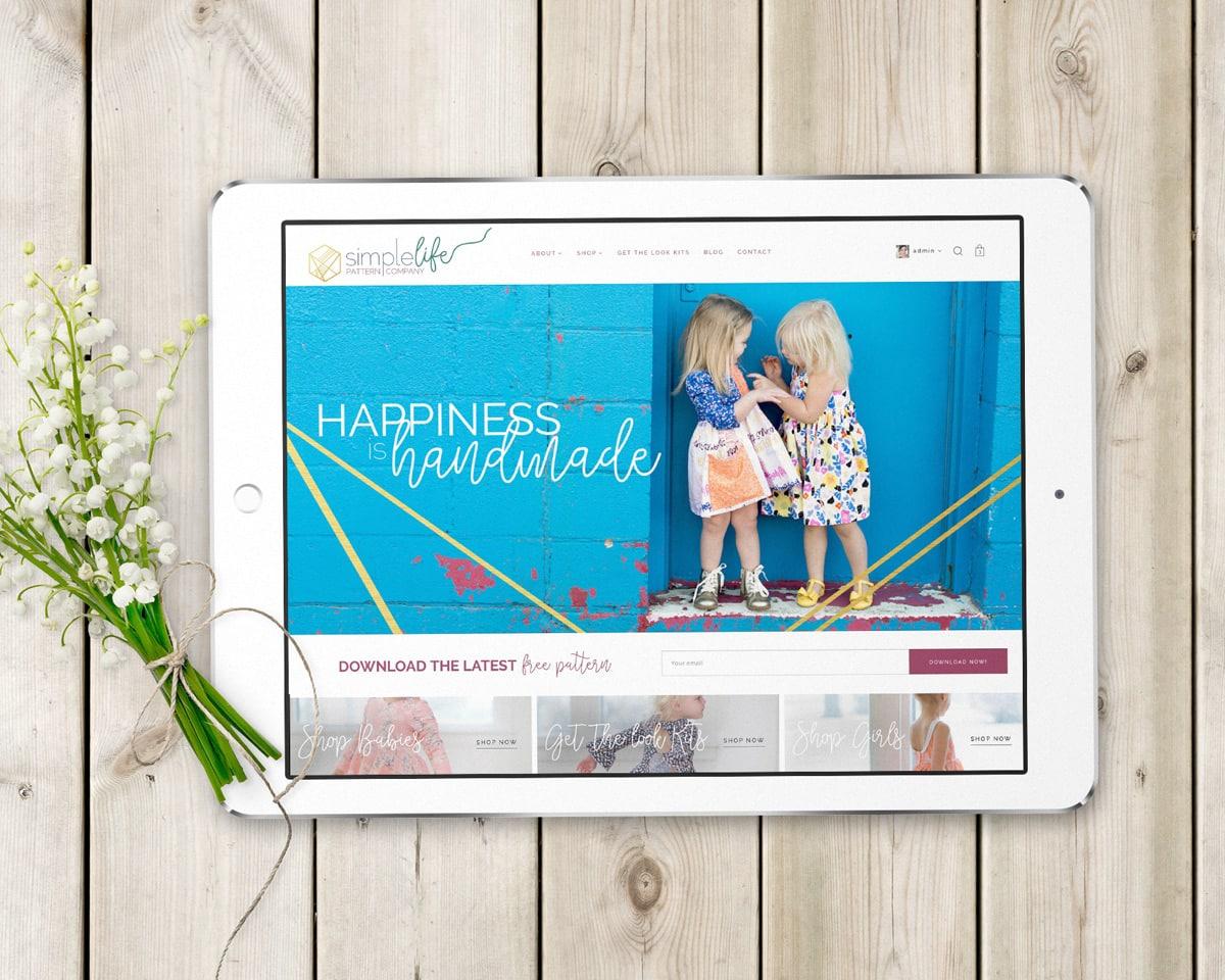 The Simple Life Pattern Company   Rebranding   Branding strategy   Web Design   ecommerce   Fabi Paolini