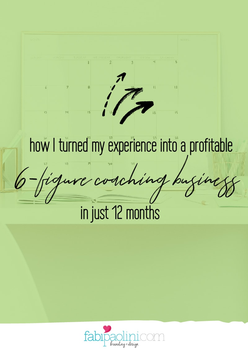 build a profitable 6-figure online coaching business in 12 months fabi paolini brand strategy