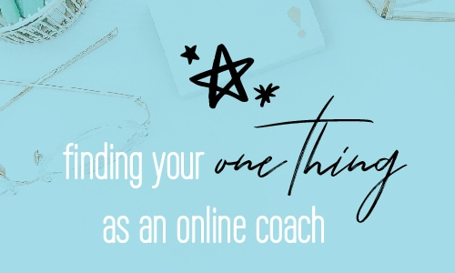 Your One thing. Discovering your Unique Selling Proposition. Differentiating your brand. Entrepreneur. Stand out as an online coach   Fabi Paolini Brand Marketing Strategy